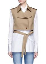 HELMUT LANG Beige Crop Trench Coat Jacket with Belt S £450