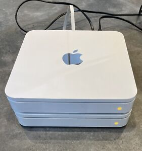2 x Apple AirPort Time Capsule 1TB (A1355)Network Drive & Dual Band Wifi Router