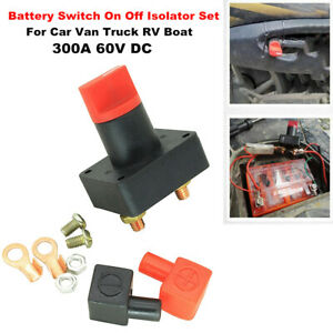 Battery Switch Car Van Truck Boat Power Disconnect On Off Rotary Isolator 300A