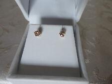 Idea Regalo! Orecchini diamanti naturali oro 0,25ct gold diamond earrings 0.25