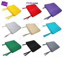WATERPROOF Chair Seat Pads Cushion OUTDOOR Tie On Garden Patio REMOVABLE COVER