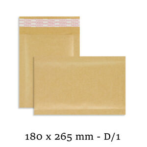100 D/1 D1 GOLD Padded Bubble Lined Postal Envelopes Mail 180 x 265mm