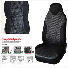 Single Piece Front Car Seat Cover Rhombus Lattice Black Anti-Splits Stain Fading
