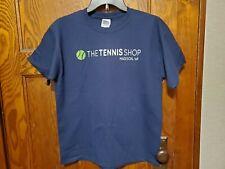 New Gildan Tennis Sports Athletic Youth Boys Girls Teen Blue T Shirt Size L