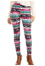 CHRISTMAS Leggings XXL Women Holiday Penguin Fair Isle Snowflake Sueded NWT