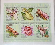 Guinea 2001 klb 3064-69 1903 insects insectos fauna abeja Bee chicharra Locust