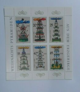 Discount Stamps : GERMANY DDR 1987 CHRISTMAS ISSUE MNH SOUVENIR SHEET