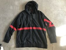 NIKE AIR JORDAN RETRO JACKET BLACK RED Size XXL Hooded New with Tags 2XL