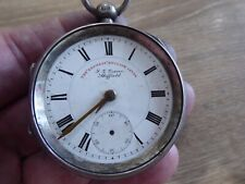 Silver Gents Pocket Watch C1905 Sheffield J.G Graves Antique Solid