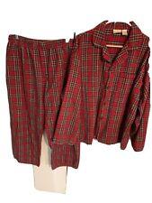 L.L.Bean  Mens Scotch Plaid Flannel Pajamas XL REG