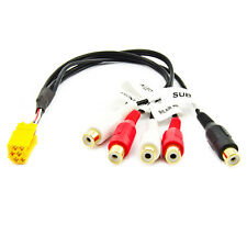 Kabel Autoradio Mini ISO Adapter 5x Cinch RCA Line Out Becker Blaupunkt Grundig