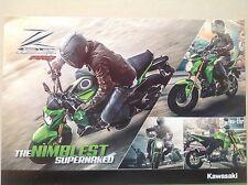 KAWASAKI MOTORCYCLE OFFICIAL POSTER, 2 SIDED, ATTRACTIVE BARGAIN HONDA YAMAHA