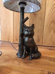 Fox Animal Woodland Desk Table Bedside Lamp Light