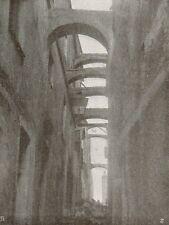 D1014 Bordighera - Una vecchia via - Stampa antica - 1917 old print