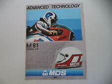 advertising Pubblicità 1982 CASCO HELMET MDS M 81 e ROLAND FREYMOND MBA ELF 250