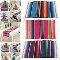 Mexican Serape Table Runner Tablecloth Cotton Blanket Wedding Home Table Decor