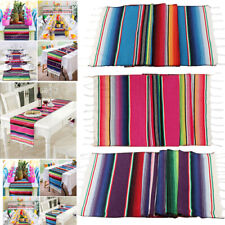 Mexican Serape Table Runner Cotton Tablecloth Party Festival Home Table Decor