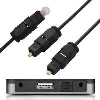Nouveau Câble audio numérique à fibre optique TOS Link 1,5/3/6/12/25/50ft S/PDIF