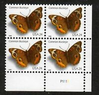 2006 Buckeye butterfly Sc 4000 MNH plate number block of 4, Scarce issue!