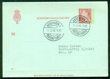 DENMARK 50ore #115 Letter card (77) used VF