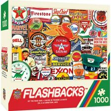 "Masterpieces Flashbacks ""Hit the Road Jack"" Vintage Logos/Ads 1000 pc Puzzle"
