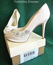 Monsoon Satin Peep Toe Bridal Shoes
