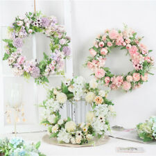 Artificial Peony Wreath Vintage Style Garland Hanging Ornament Flower Door Decor