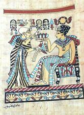 Original Egyptian Papyrus, King Tutankhamun, Handmade Painting 12 x 16 Cm