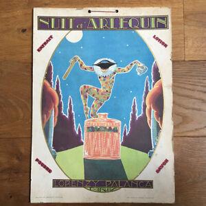 Nuit d'Arlequin Lorenzy-Palanca Panonceau Original 1930 Papier sur Carton PUB