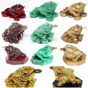 Home Decor Money Frog Toad Feng Shui Statues Fortune Figurine Gift US Seller