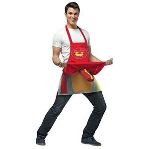 Rasta Imposta Hot Dog Vendor Dirty Apron Humor Adult Mens Halloween Costume 6956