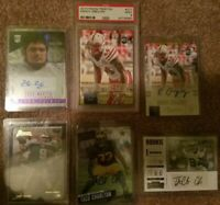 NFL DALLAS COWBOYS AUTOGRAPHED ROOKIE CARDS! FOOTBALL X7 LOT ROMO MARTIN COLLIN