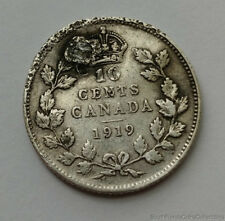 1919 Canada 10 Ten Cent .925 Sterling Silver Coin