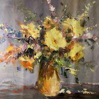 100% hand-painted vase flowers 20×24in oil paintings