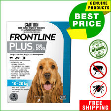 FRONTLINE PLUS Flea and Tick treatment for Dog 10 to 20 Kg 3 Pipettes Blue Pack