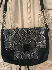 French Connection Purse Leopard Faux Leather  Shoulder/Crossbody/ Arm Bag