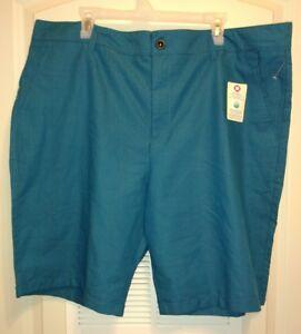"Mens Blue Black Plaid Shorts Big and Tall Size XL 42 22"" seam Moisture Wicking"