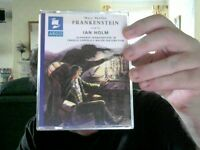 FRANKENSTEIN 2 TAPES MARY SHELLEY IDEAL HALLOWEEN  GIFT!  FREE UK POST