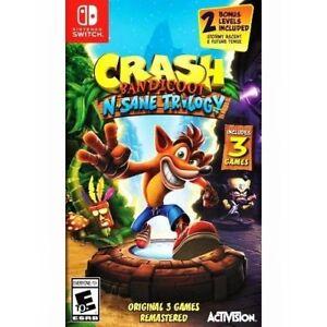 Crash Bandicoot: N. Sane Trilogy (Nintendo Switch) Brand New Factory Sealed
