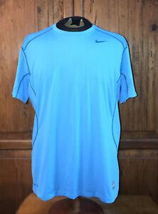 Nike Pro Combat Dri Fit Athletic Fitted Shirt Men's Size XL EUC Mesh Back
