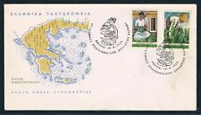 Greece. International Tobacco Convention Year : 1966, Tobacco Warkers, Greek Fdc