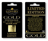 10 LIMITED EDITION 24K 99.99 pure  genuine Gold Leaf Sheet  bullion gift