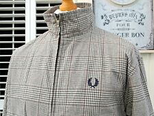 Fred Perry príncipe de Gales cheque Harrington Jacket-L/XL-Ska Mod Scooter Raro