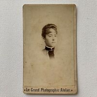 Antique CDV Photograph Beautiful Victorian Woman Misses Garrity Chicago, IL