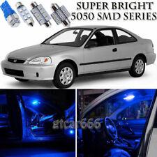 Blue LED Interior Lights Bulb Package Kit For Honda Civic Coupe Sedan 1996-2000