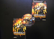 JEU Sony PLAYSTATION 2 PS2 : WITHOUT WARNING (Capcom COMPLET envoi suivi)