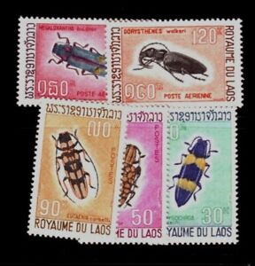 LAOS Sc 171-3,C54-5 NH set of 1968 - Insects
