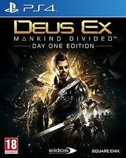 Deus Ex: Mankind Divided Day One Edition (PS4) BRAND NEW SEALED