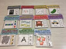 11 Sets - Cards for Learning Center 52 Cards- Letters Teaching -Preschool K1