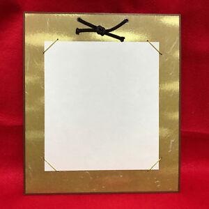"The frame to display ""Shikishi"" paper/ The japanese design /Gold color /NEW"